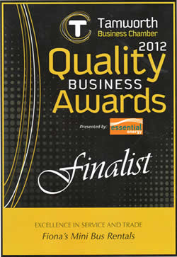 Finalist - 2012 Excellence in Service and Trade