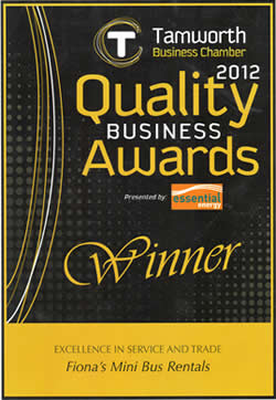 Winner - 2012 Excellence in Service and Trade