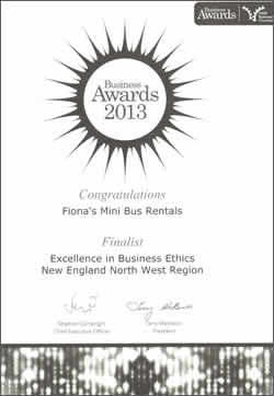 Finalist - 2013 Excellence in Business Ethics New England North West Region