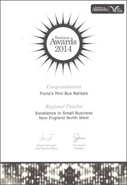 Regional Finalist - Excellence in Small Business - New England North West